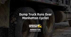 Dump Truck Runs Over Manhattan Cyclist